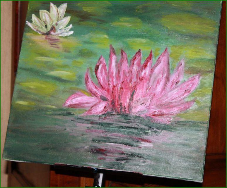 peinture nénuphar